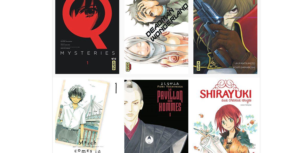 Confinement 50 mangas numériques gratuits