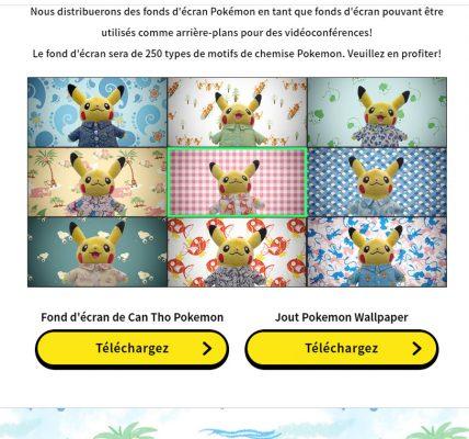 250 fonds d'écran Pokémon pour les visio conférences