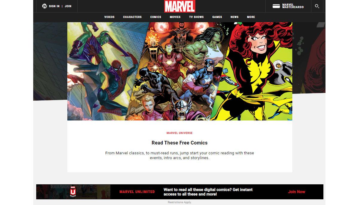 Confinement - Des comics Marvel à lire gratuitement