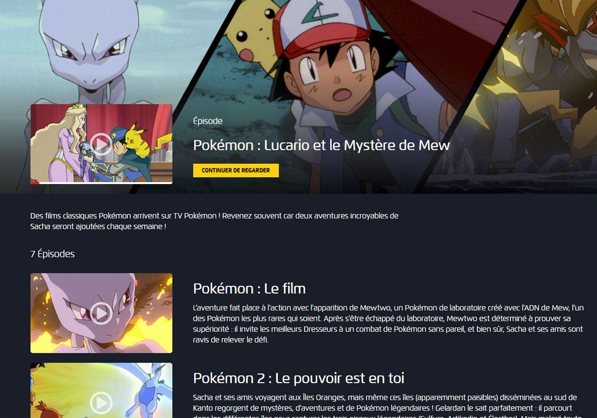 Confinement Des films Pokémon pour les enfants