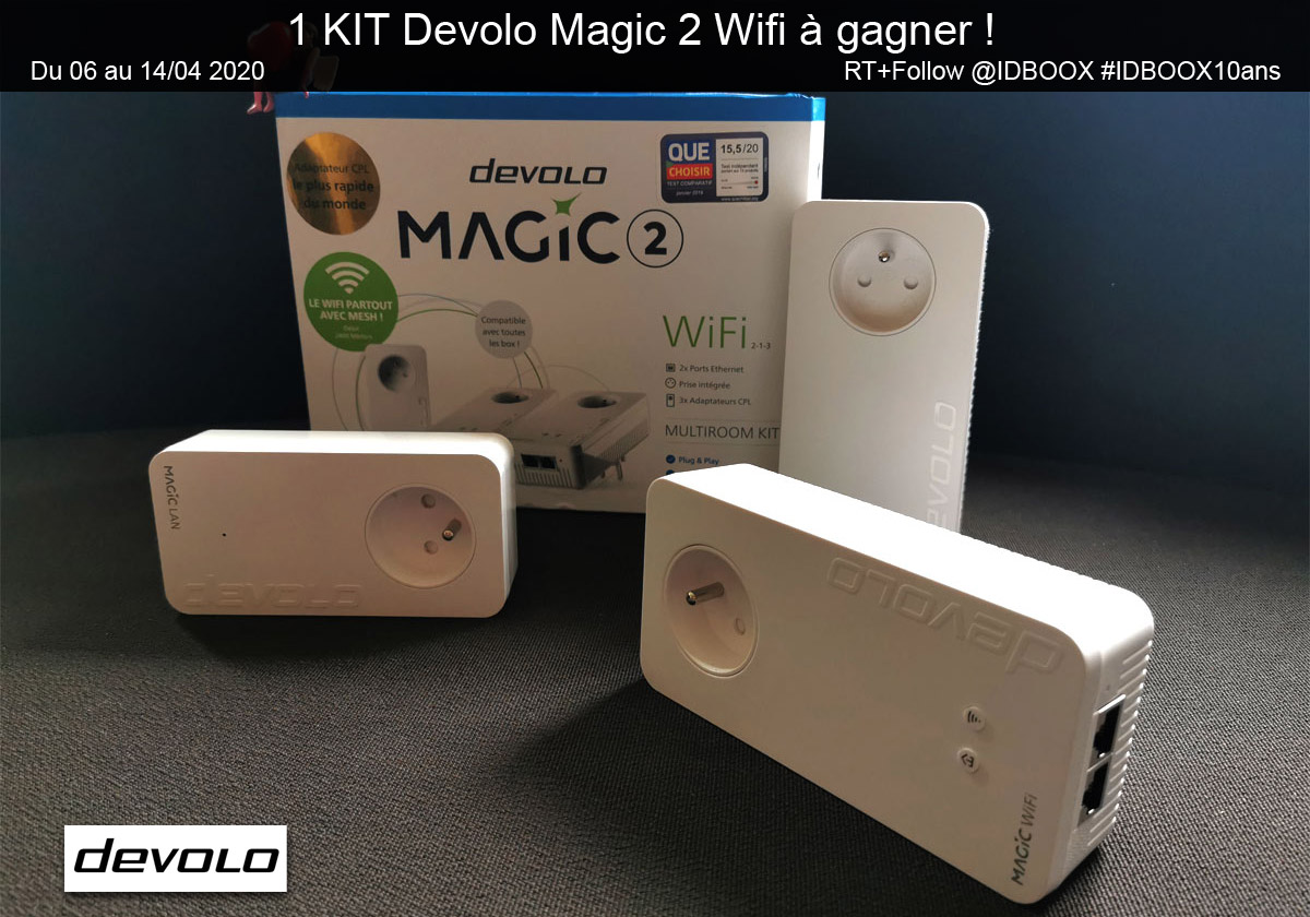1 ensemble Devolo Magic 2 Wifi à gagner