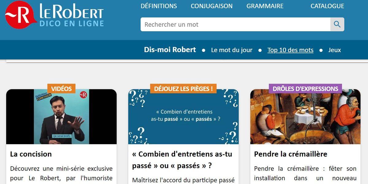 Le Robert dico en ligne gratuit confinement
