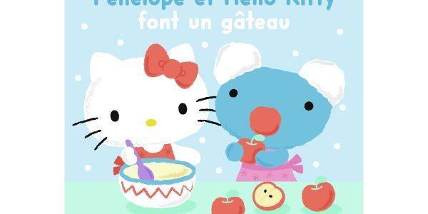 Livre enfants - Pénélope et Hello Kitty une recette de gâteau