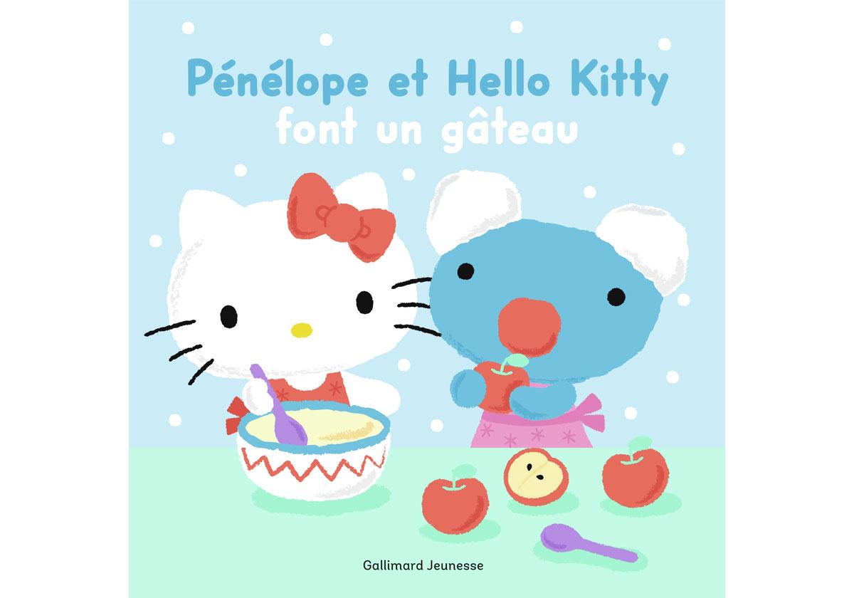 Livre enfants - Pénélope et Hello Kitty une recette de gâteau yaourt