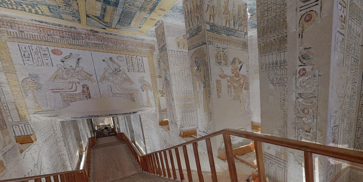 visite virtuelle pharaons egypte tombeau confinement