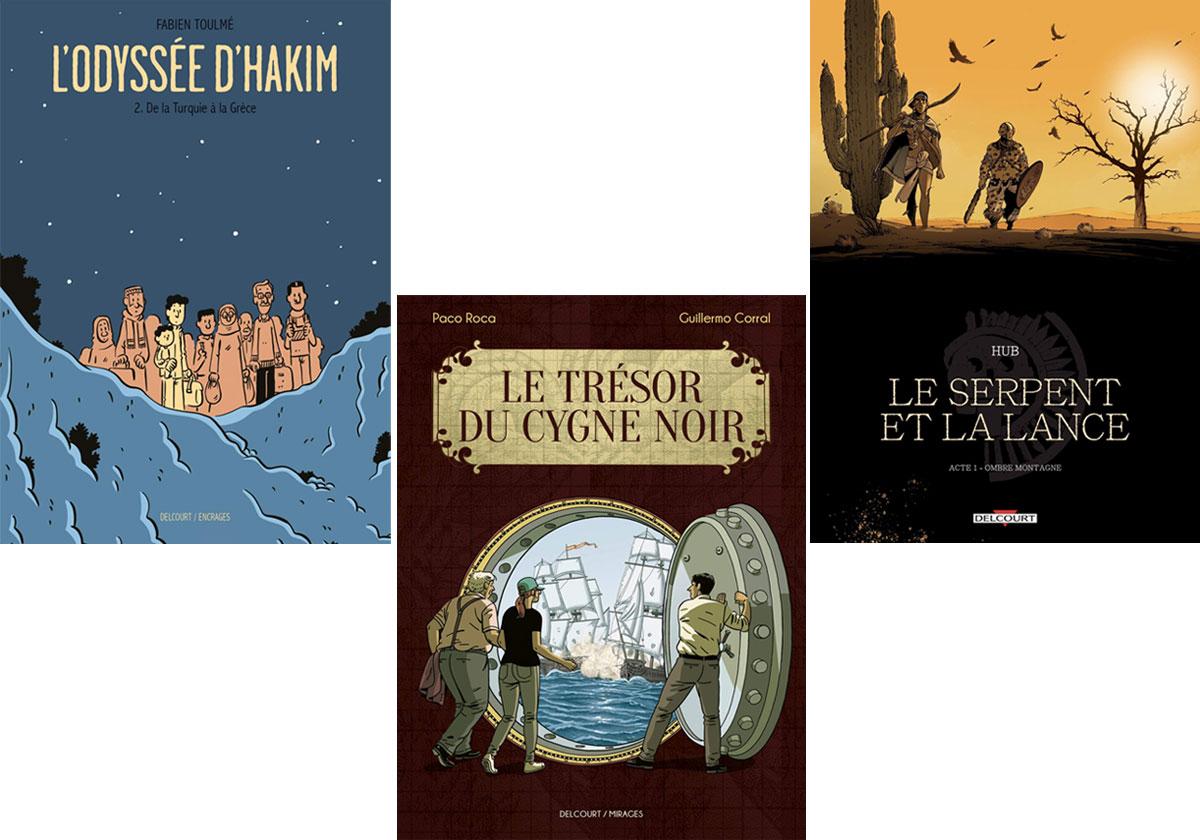 BD Chroniques de trois BD Delcourt pour le week-end