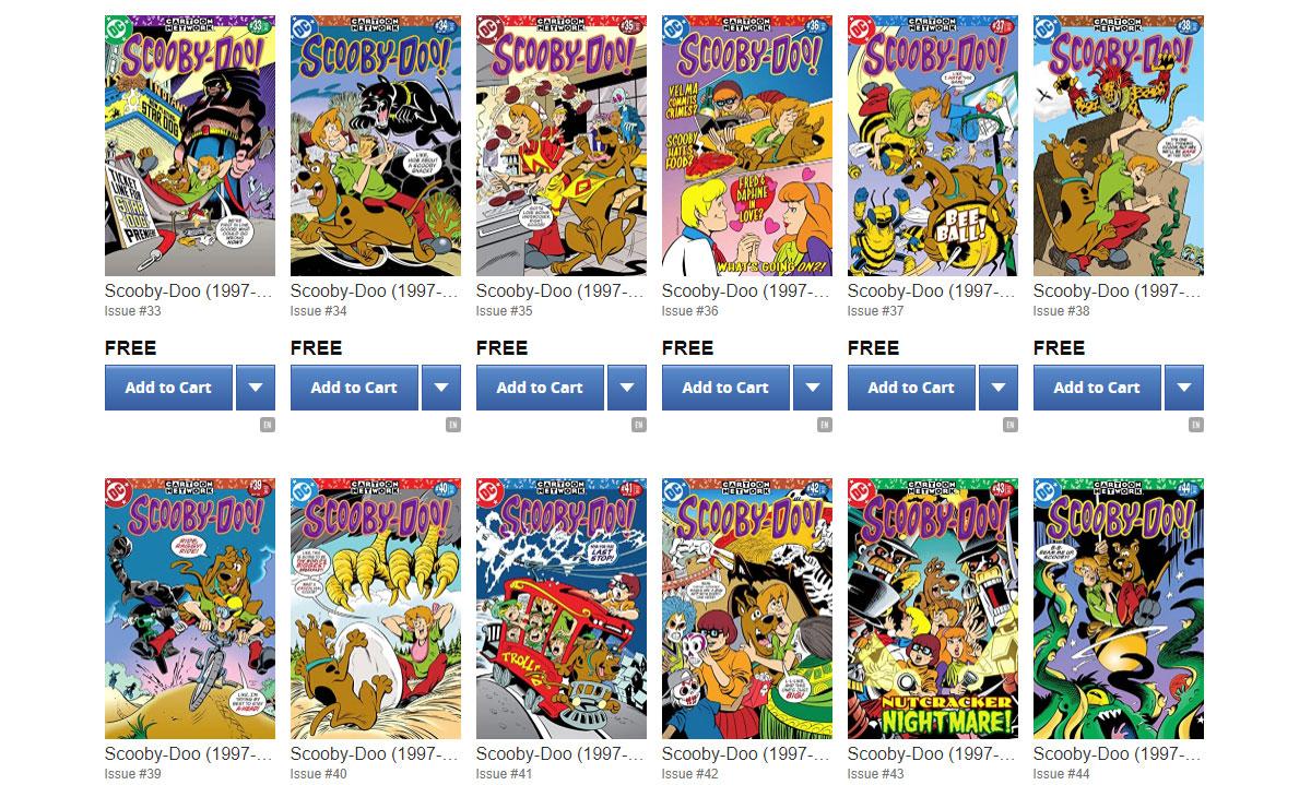 50 Comics Scooby Doo gratuits