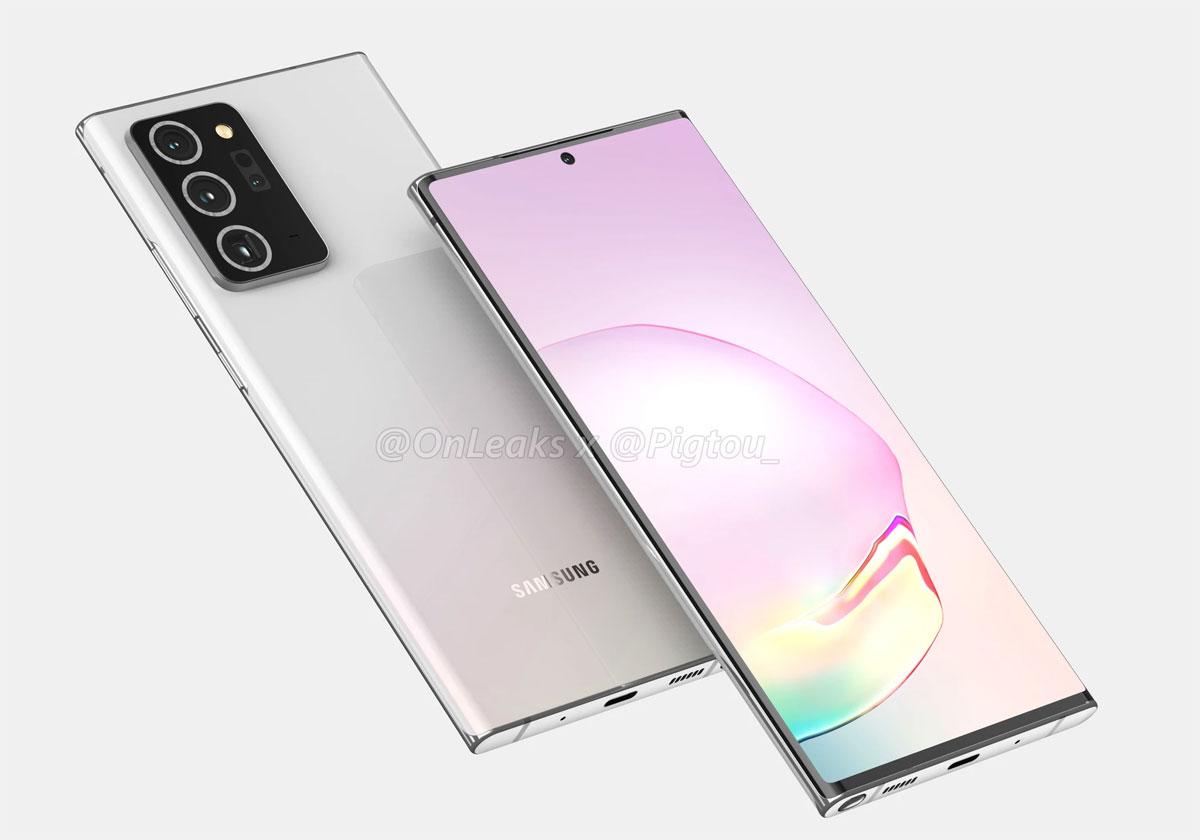 Samsung Galaxy Note 20 Plus - Les premiers visuels