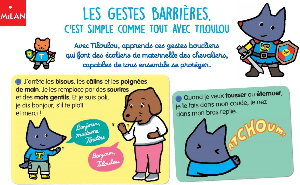apprendre geste barriere aux enfants poster gratuit