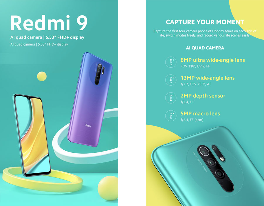 Xiaomi Redmi 9 – Les visuels, les prix et les caractéristiques officielles - IDBOOX