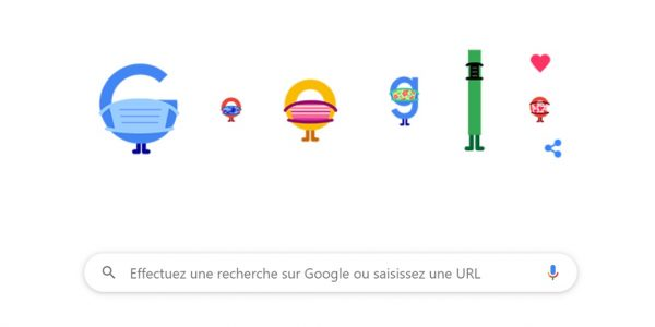 doodle google coivd19