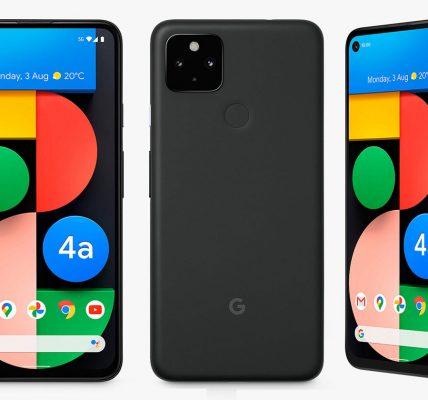 Google Pixel 4a 5G - Une série de visuels mis par erreur en ligne