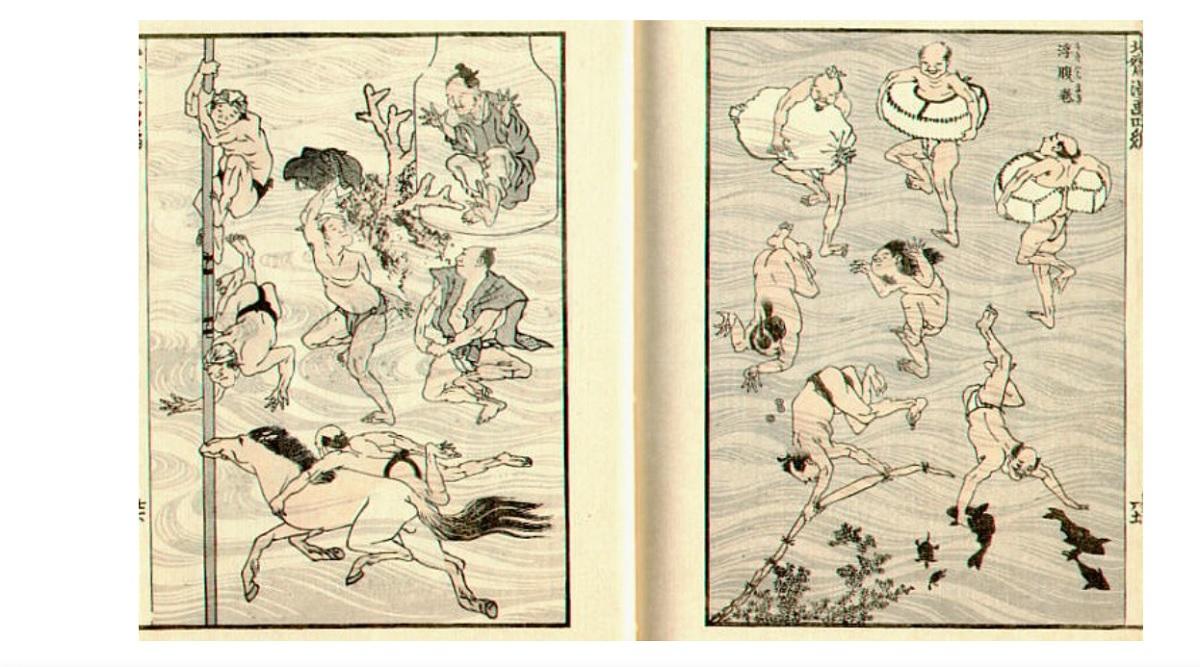 Hokusai manga histoire