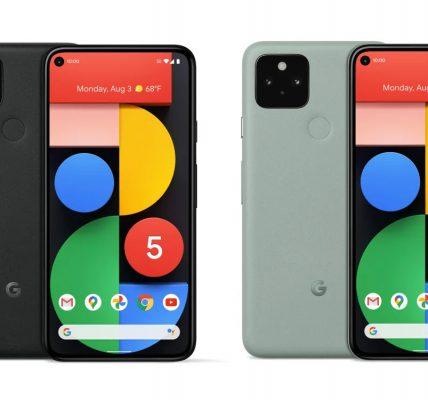 Pixel 5 et Pixel 4a 5G les prix t toutes les différences