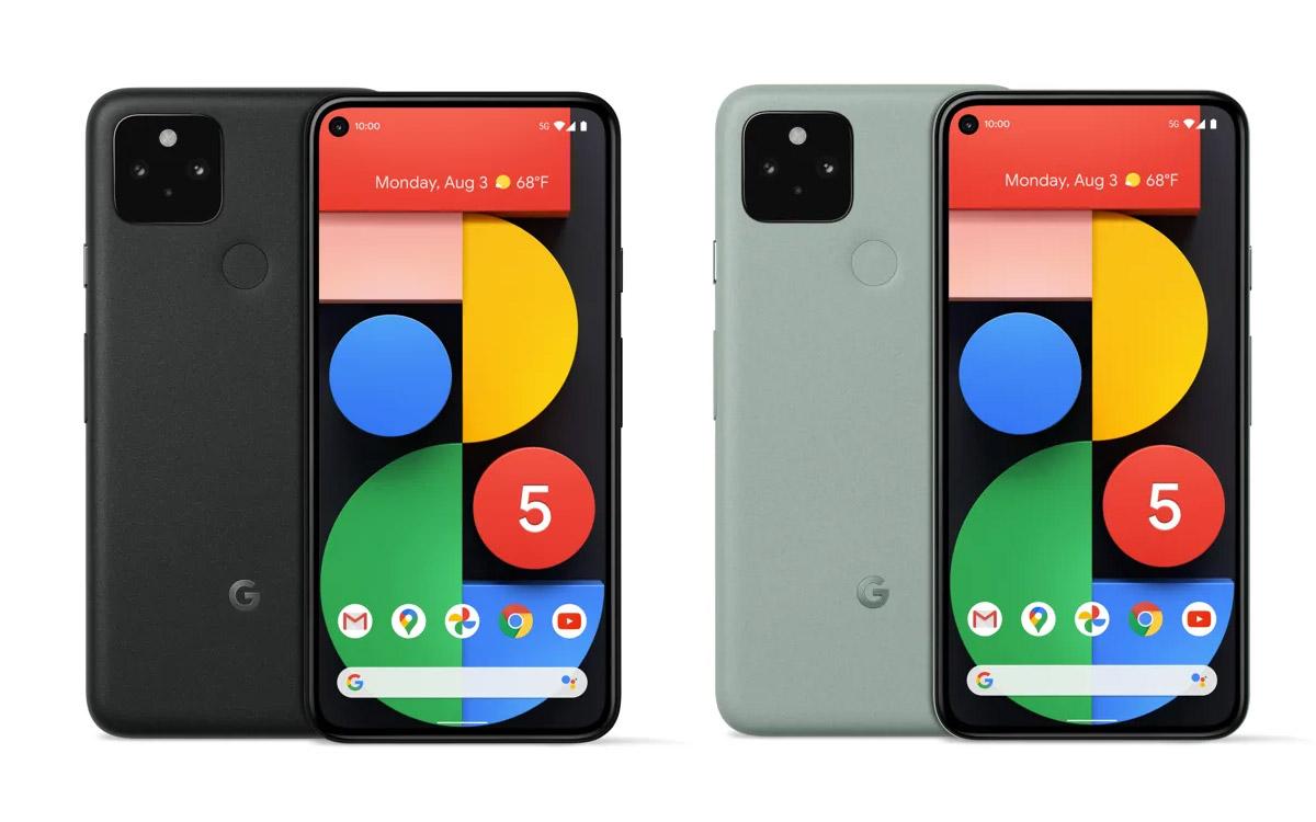 Pixel 5 et Pixel 4a 5G les prix et toutes les différences