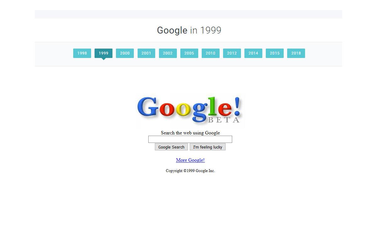 Retour sur Internet en 1999