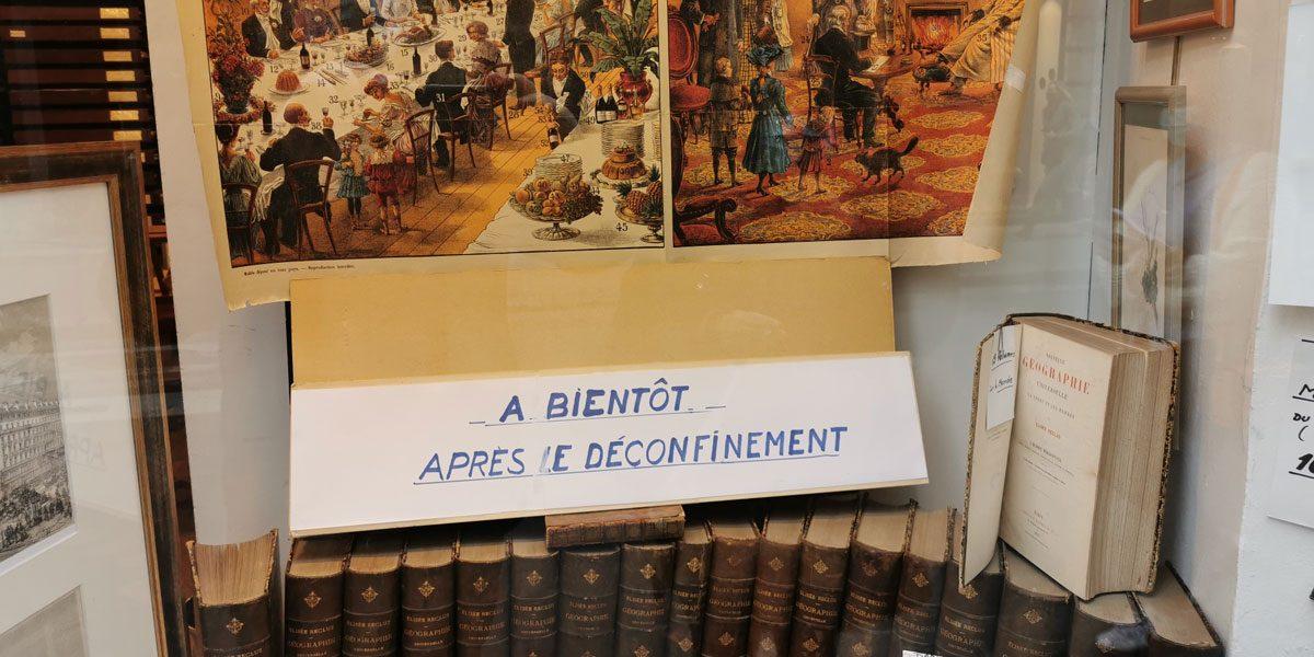 librairie confinement