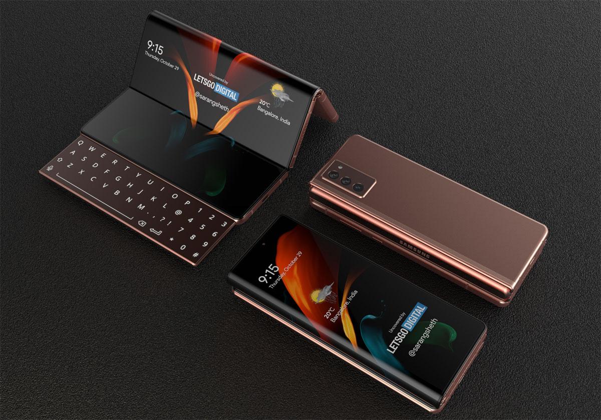 Samsung Galaxy Z Fold 3 découverte d'un brevet