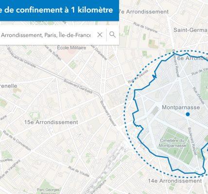 comment calculer 1 km autour de chez soi covid19 confinement