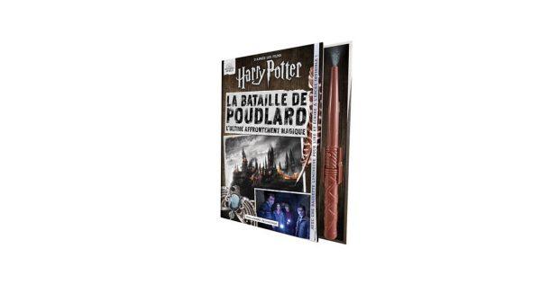 harry potter bataille poudlard livre avec baguette magique