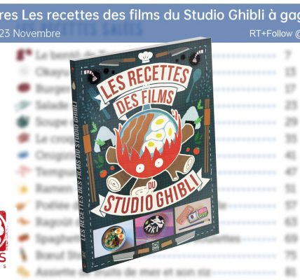 jeu concours noel Les recettes des films du Studio Ghibli