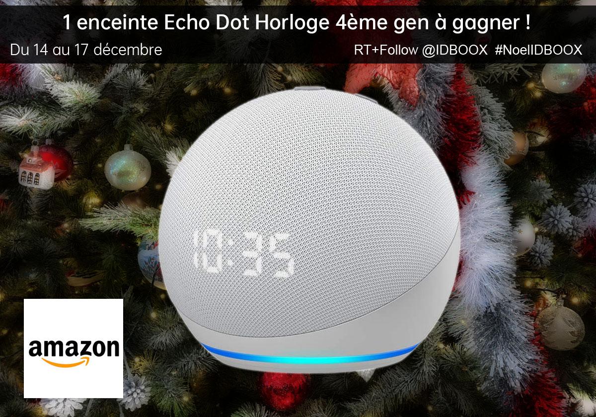 Jeu Amazon une enceinte Echo Dot horloge 4eme génération à gagner