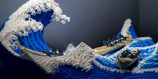 Hokusai - L'estampe La Vague de Kanagawa en LEGO