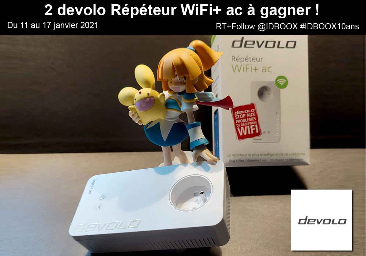 Deux répeteurs WiFi Devolo à gagner