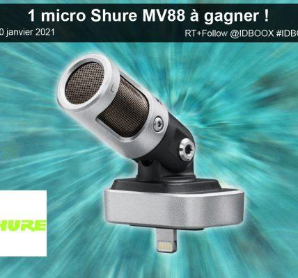 Un micro Shure MV88 pour iPhone et iPad à gagner