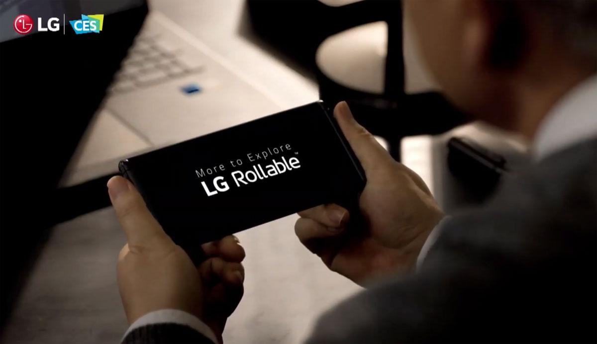 LG Rollable - Un écran enroulable pour le smartphone de demain