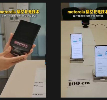 Motorola fait la démo de sa recharge à distance