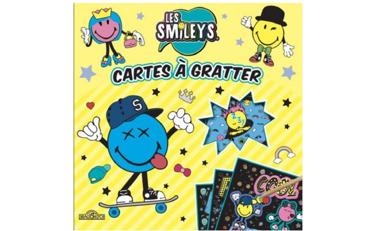 smileys cartes a gratter emoji