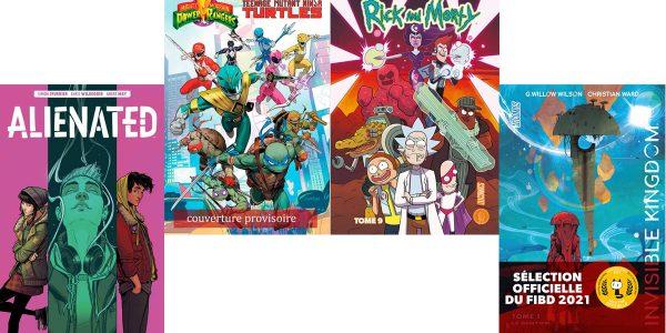 BD à lire Quand les Power Rangers rencontrent les Tortues Ninja