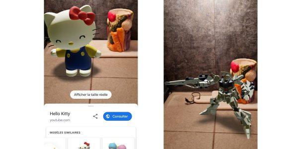 Google ajoute des personnages manga en réalité augmentée dans son moteur de recherche