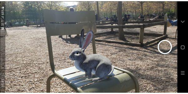 Le lapin de Pâcques Google en réalité augmentée