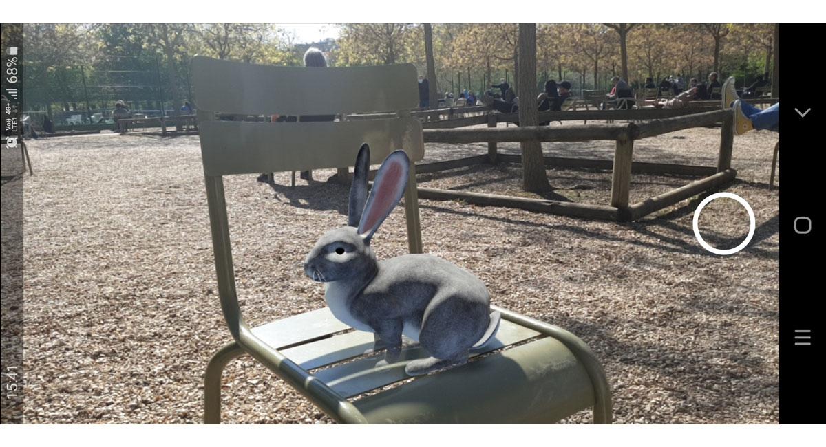 Le lapin de Pâques Google en réalité augmentée