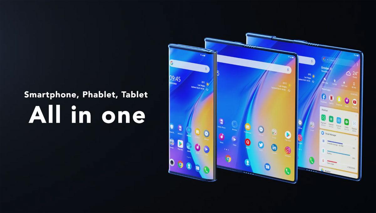 TCL Fold'n Roll - un smartphone pliable qui fait phablet et tablette en même temps