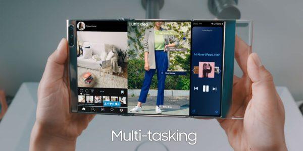 Samsung Galaxy S - L'écran pliable en trois
