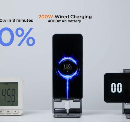 Xiaomi dévoile sa recharge filaire 200W