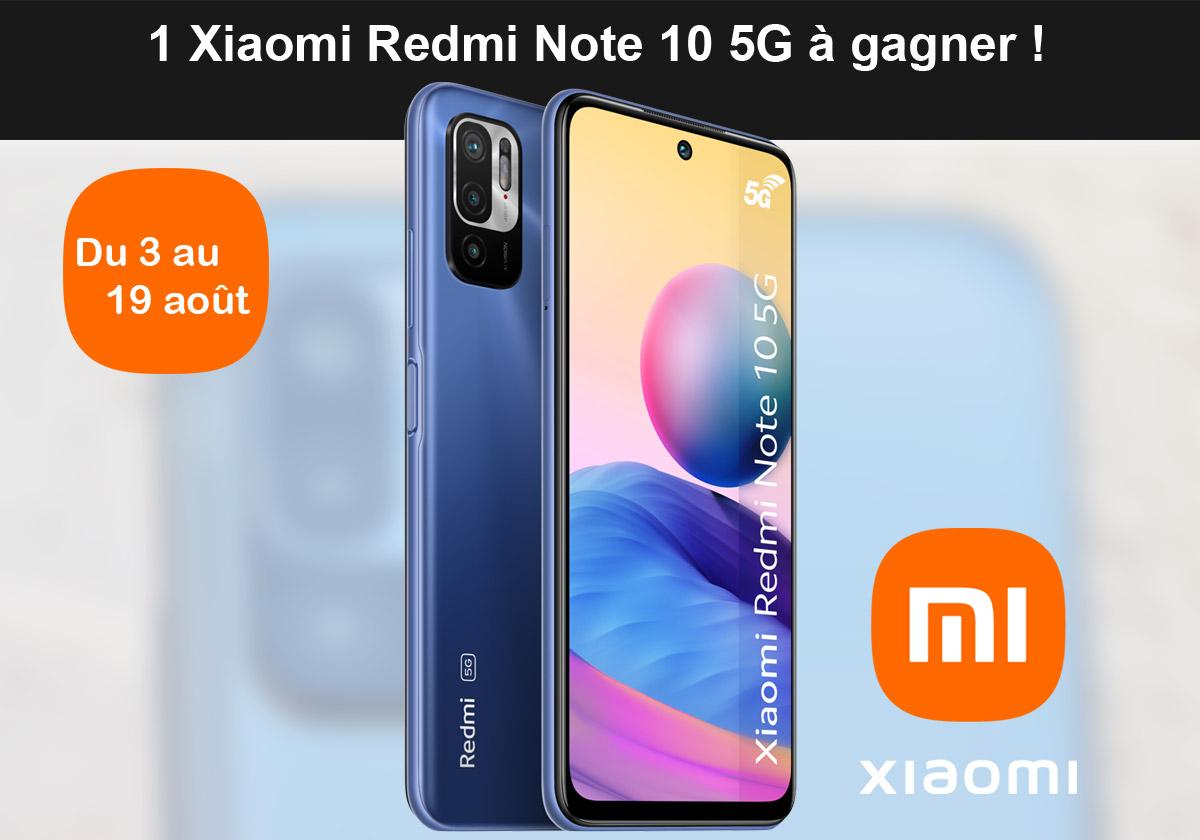 Jeu Gagnez un Xiaomi Redmi Note 10 5G sur IDBOOX.COM