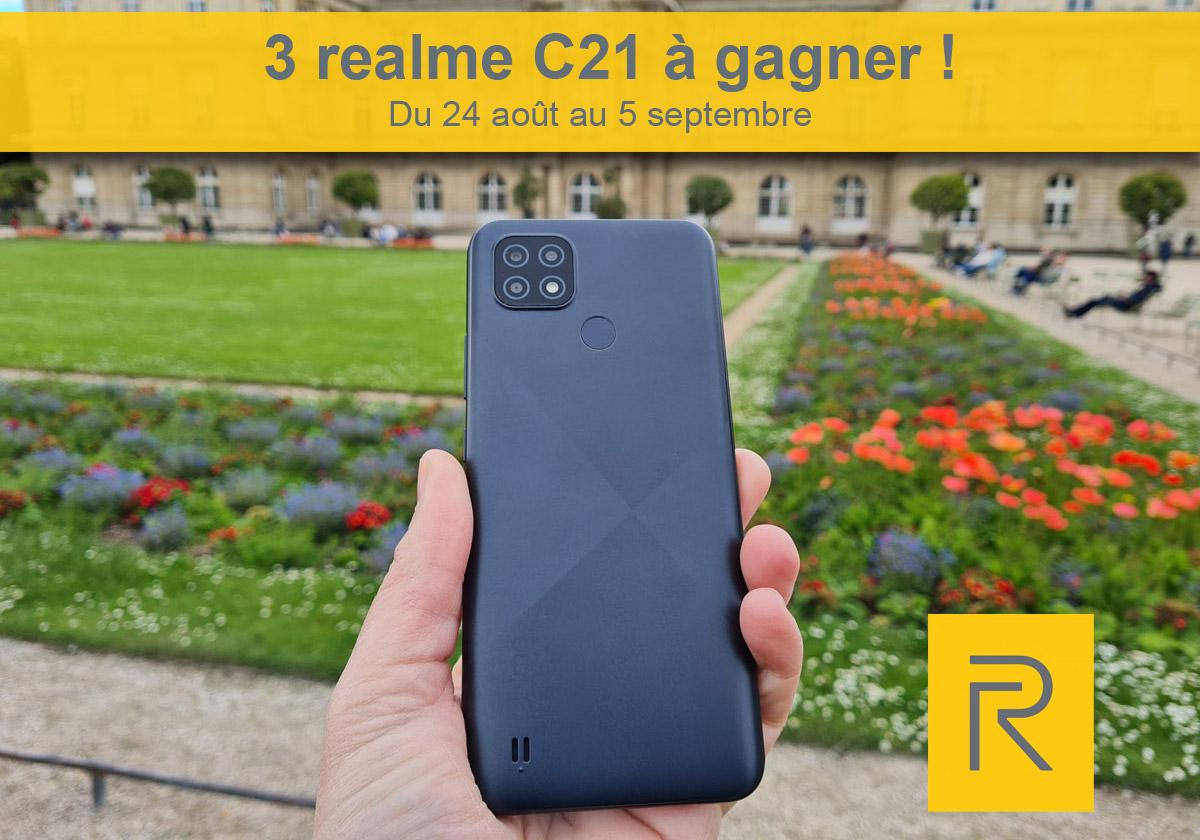 3 smartphones realme C21 à gagner sur idboox