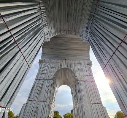 arc de triomphe wrapped paris