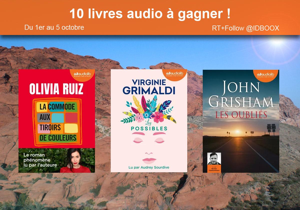 10 livres audio à gagner
