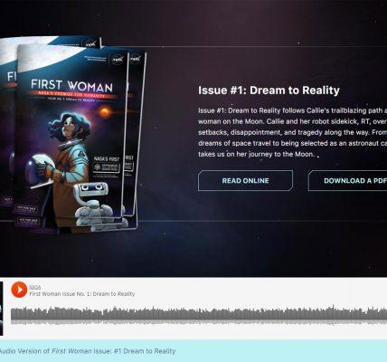 Une BD éditée par la NASA gratuite et en réalité augmentée Frist Woman, un