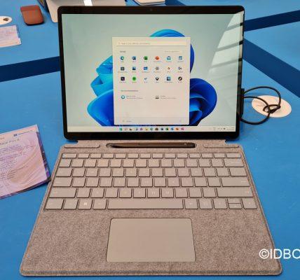 Le Microsoft Surface Pro 8 en vidéo